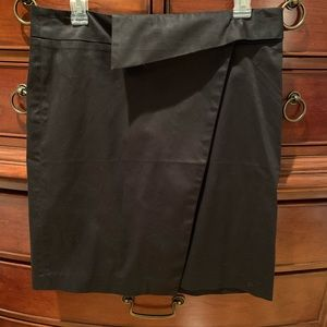 NWOT Adrienne Vittadini Black wrap skirt Size 10